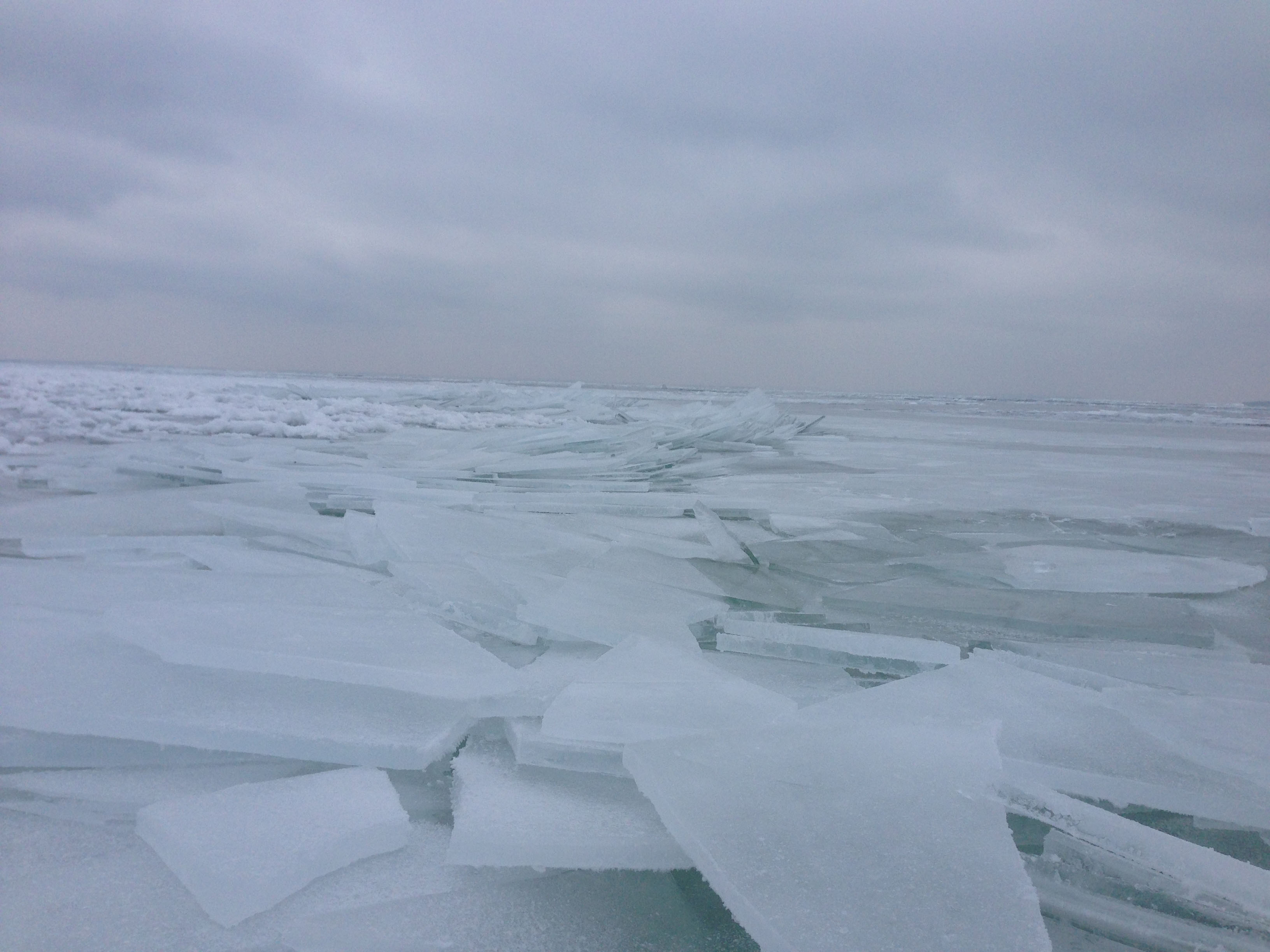 Leech Lake Freezing Over Ice Heaves Three 2014 4 x 6