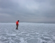 Leech Lake Freezing Over Alex 2014 4 x 6
