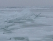 Leech Lake Freezing Over Ice Heaves Two 2014 4 x 6