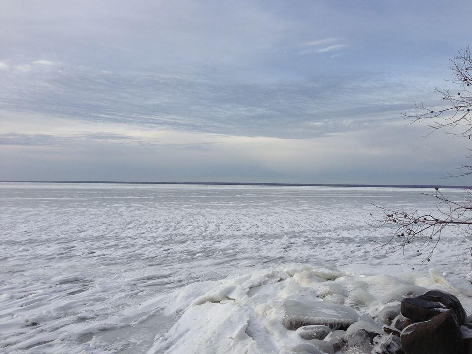 Leech Lake Froze Over 2013