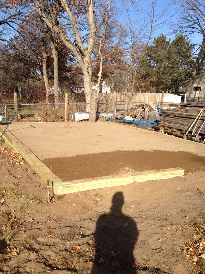 Base for shed