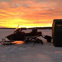 Thumbnail image for Ice Fishing-Awesome Sunset On Leech Lake