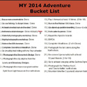 Thumbnail image for 2014 Adventure Bucket List Update